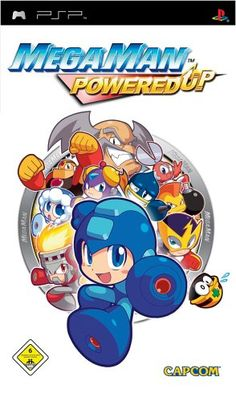 Mega Man Powered Up cover art - Mega Man Powered Up - Wikipedia Mega Man, Level Design, Playstation Portable, World Peace, Psp, Cover Art, Smurfs, Games, Retro