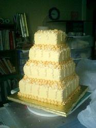 1600 hundred flower wedding cake