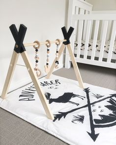 Image of wooden play gym (frame only)