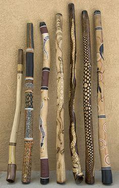 Decorated walking sticks #pyrography #wood_burning
