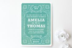 Minted.com tends to have coupons and free shipping offers. Def a good place to visit.  Fiesta Folk Art Wedding Invitations by root beer float at minted.com