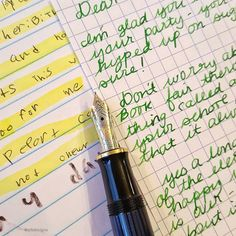 Writing the minime back in her family message journal today. Pelikan M600 and noodlers ink Gruene Cactus!  #fpgeeks #mondaymatchupgiveaway #gouletpens