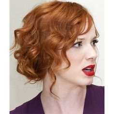 Light Red (Ginger) TheHairStyler.com ❤ liked on Polyvore featuring hair, people and red hair