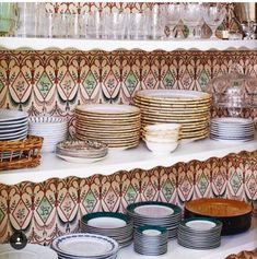 """Our """"Dublin"""" wallpaper. Thank you to for featuring this amazing paper. Pantry Design, Interior Decorating, Interior Design, Pantry Organization, Valance Curtains, Home Kitchens, Bedroom Decor, Wallpaper, House Styles"""