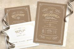 sets the tone... right away you know this is going to be a rustic and fun wedding