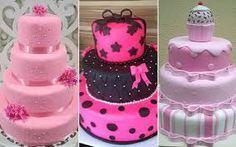 bolo pasta americana 15 anos rosa