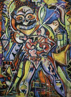 Timothy archer: Tiens voila le printemps 2014 Mixed media on paper 181 x 131 cm