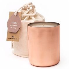 Mine Design's Copper Tin Soy Wax Candle