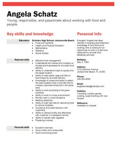 food industry position free resume template by hloomcom