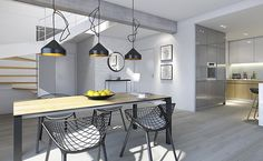 Dostępny 3 - wizualizacja 4 - nowoczesny projekt małego domu z podwójnym garażem