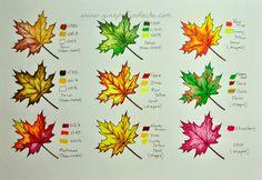 Atelier Gina Pafiadache: Sugestão de cores para os livros de colorir! #1