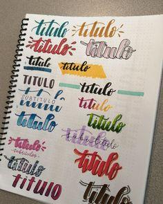 Bullet Journal Titles, Bullet Journal Banner, Journal Fonts, Bullet Journal Notebook, Bullet Journal Aesthetic, Bullet Journal School, Journal Themes, Daily Journal, Stabilo Boss