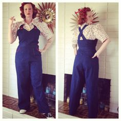 Wearing History WWII overalls ~