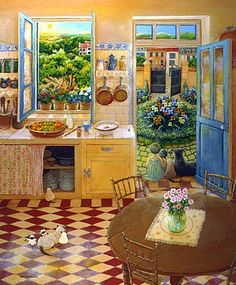 Monique Valdeneige. Naive Art. France