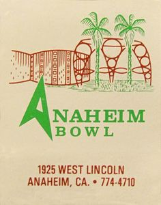 Anaheim Bowl matchbook. To order your business' own branded #matchbooks go to: www.GetMatches.com or call 800.605.7331 Today!