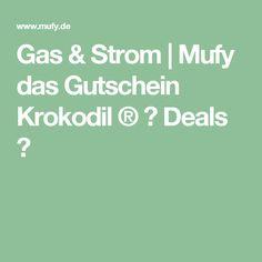 Gas & Strom   Mufy das Gutschein Krokodil ® ✓ Deals ✓