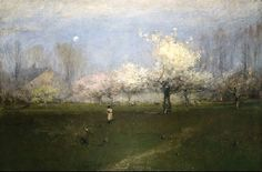 George Inness. Spring Blossoms