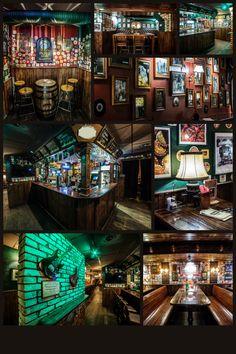 Rock 'N' Roll PUB - Čia savaitgalis niekada nesibaigia Cake Shop Design, Pub Design, Irish Design, Irish Pub Interior, Bar Interior, Interior And Exterior, Bar A Burger, Irish Bar, Pub Decor