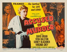 Accused of Murder, 1957 Steven Lee, Lee Van Cleef, Republic Pictures, Star David, Hooray For Hollywood, Gangsters, Film Posters, Movie Stars, Novels