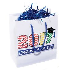 2017 Graduate Gift Bag - Kids of all ages will love to receive this graduation gift bag filled with fun graduation gifts. Kindergarten Graduation Gift, Kindergarten Gifts, Graduation Cap And Gown, Best Graduation Gifts, Stage Decorations, Kids Bags, Early Childhood, Presents, Fun