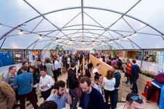 A cool shipping-container food and events space – Pop Brixton – London – #industrial #brixton