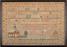 Eliza's sister, Mary Ann Mills, stitched this sampler in 1840.    She is the sister that married Eliza's husband, after Eliza's death.