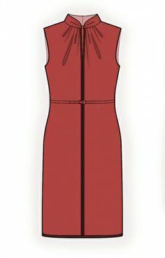 Lekala Dress - Sewing Pattern #4313