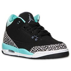 size 40 ad737 33a07 Girls  Grade School Air Jordan Retro 3 Basketball Shoes   Finish Line    Black