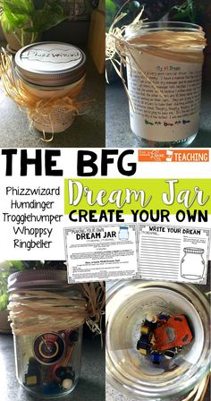 The BFG Dream Jar - fun writing and craft activity for students! Comes with 60 reading comprehension task cards for the book: The BFG by Roald Dahl