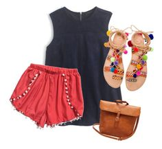 """""""Obsessed with Pom poms READ D!"""" by hayprep ❤ liked on Polyvore featuring J.Crew and Elina Linardaki"""