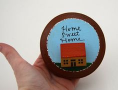 Home Sweet Home Miniature wooden house assemblage by LennyMud, $20.00