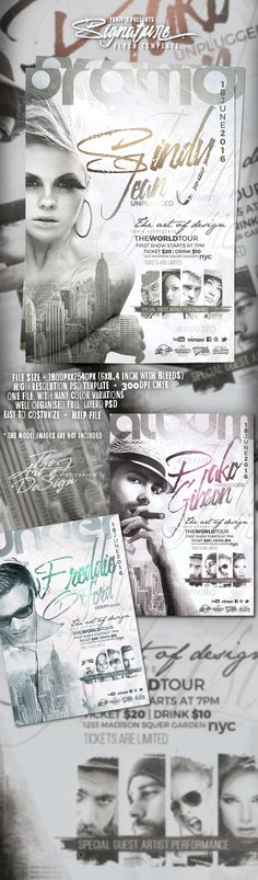 SignAture Flyer Template PSD. Download here: http://graphicriver.net/item/signature-/16128398?ref=ksioks