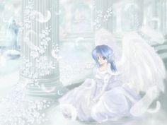 anime girl in wedding dress