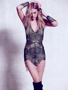 For Love & Lemons Antigua Mini Dress at Free People Clothing Boutique
