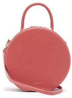 d7211ead786cd Mansur Gavriel Circle Leather Cross Body Bag - Womens - Pink