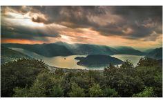 Beautiful light on Lake Iseo #italy #travel #lake