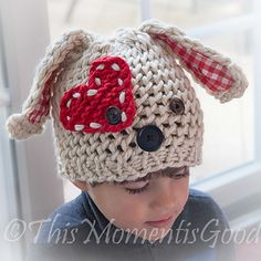 Loom Knit Puppy Dog Hat Pattern!