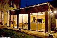 La façade de l'extension : lumineuse !
