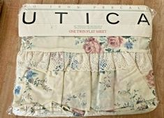 Vintage Utica JP Stevens CHESTNUT HILL Floral Lace Ruffled Twin Flat Sheet NEW #Utica Vintage Bedding, Chestnut Hill, Lace Ruffle, Flat Sheets, Floral Lace, Twins, Ballet Skirt, Flats, Skirts