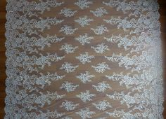 Gorgeous Chantilly Lace Fabric in Ivory for by prettylaceshop