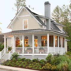 siding: BM litchfield gray door: caliente ok this is the perfect style of my dream home
