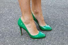 Green Christian Louboutins