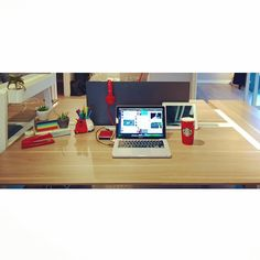 This is my desk, creativity abounds! Can you tell I love red? Offices, Creativity, Desk, Inspire, Crystal, Pop, Life, Inspiration, Writing Table