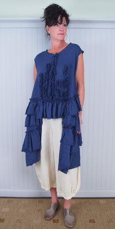Tina Givens Feather Tunic and Jane Trouser