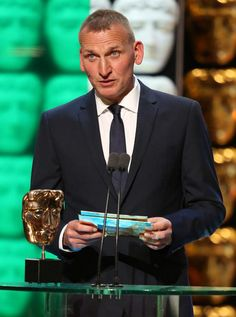 Christopher Eccleston, presenting at BAFTA 2015