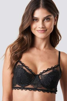 638a7153df095 Na Kd Lingerie Floral Embroidery Cup Bra Black Floral Embroidery