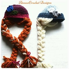 Free Ana and Elsa Hat Tutorial By AnnooCrochet Designs