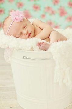 Baby girl headband newborn headband photo by AverysChicBoutique