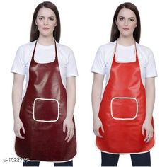 Aprons Classic Aprons ( Pack Of 2)  *Material * Apron - PVC  *Size (L x W)* Apron - 18  in x 28 in  *Description* It Has 2 Piece Of Kitchen Apron  *Pattern* Solid  *Sizes Available* Free Size *   Catalog Rating: ★4.2 (220)  Catalog Name: Hiba Lovely Aprons Combo Vol 1 CatalogID_123448 C129-SC1633 Code: 142-1022767-