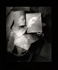 Jerry Uelsmann, master printer, producing composite photographs with multiple negatives and extensive darkroom work